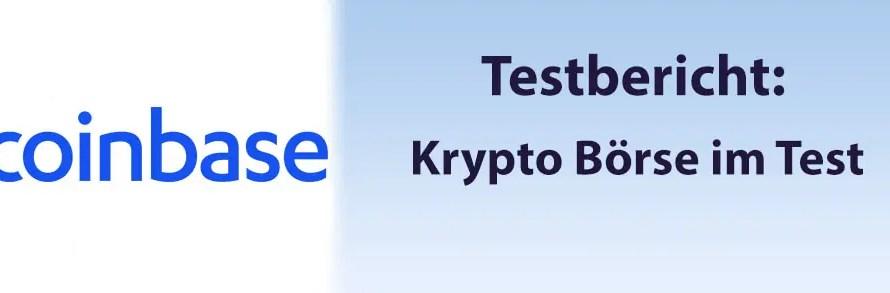 Coinbase Krypto Börse im Test