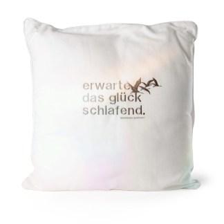Pillow SLEEP, big, white/grey