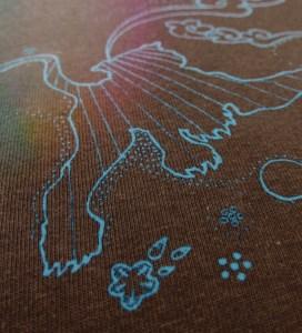 Macro-Aufnahme von Tiger-Aufdruck, Farbe: brown