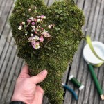 DIY Moosiges Herz & Waxflower