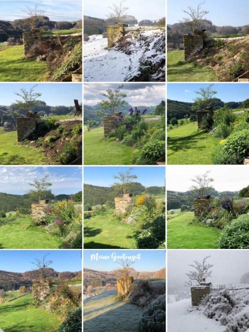 Jahresüberblick Kräutergarten