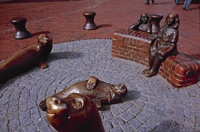 Wangerooge Seehund-Brunnen