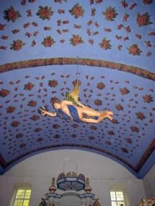 Hiddensee Kirche Rosenhimmel + Taufengel
