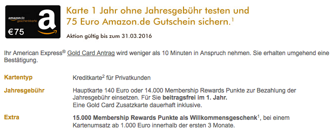 American Express Gold Kreditkarte - 15.000 Points 1 Year Free 75€ Amazon Gift Card-01