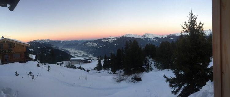 Sonnenuntergang über dem Zillertal