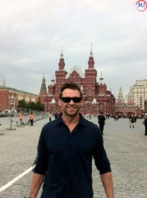 Хью Джекман на Красной площади