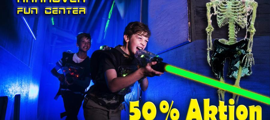 50% Rabatt bei Lasertag Hannover Fun Center