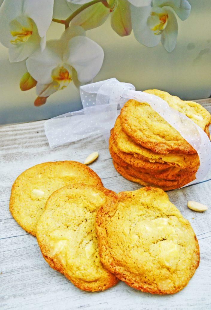 Der elegante Riesen-Keks! Cookies mit weißer Schokolade, Mandeln und Ingwer
