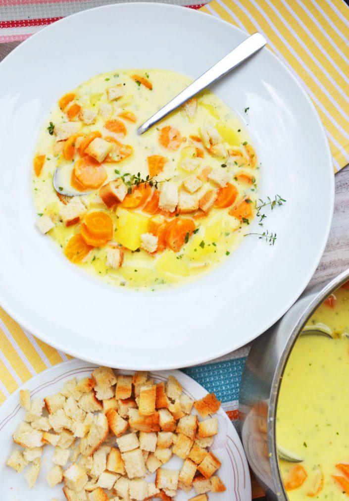 Weckt Kindheitserinnerungen! Erdäpfel-Karotten-Rahmsuppe