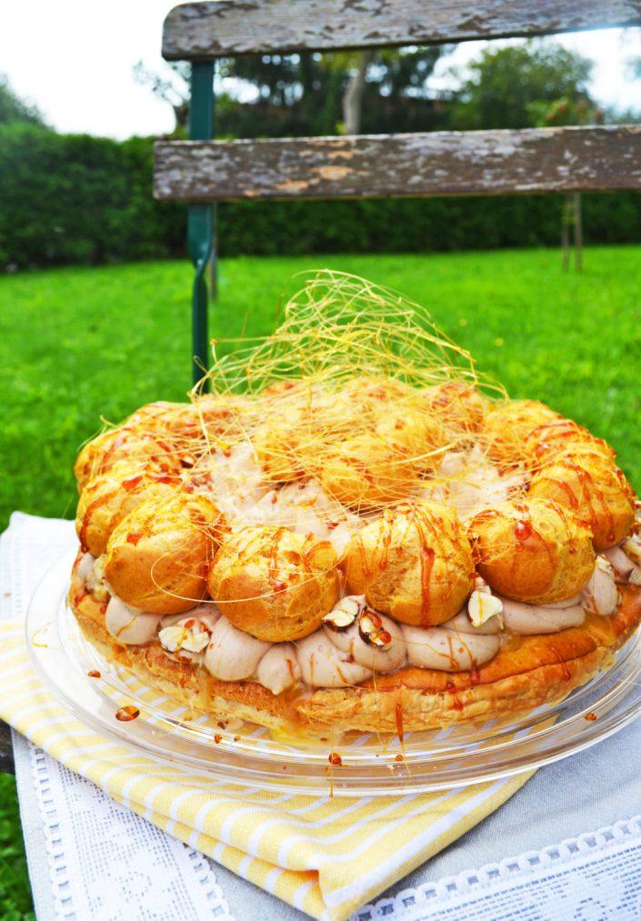 Bonjour Paris! Saint Honoré Torte mit Birnen und Nougatcreme