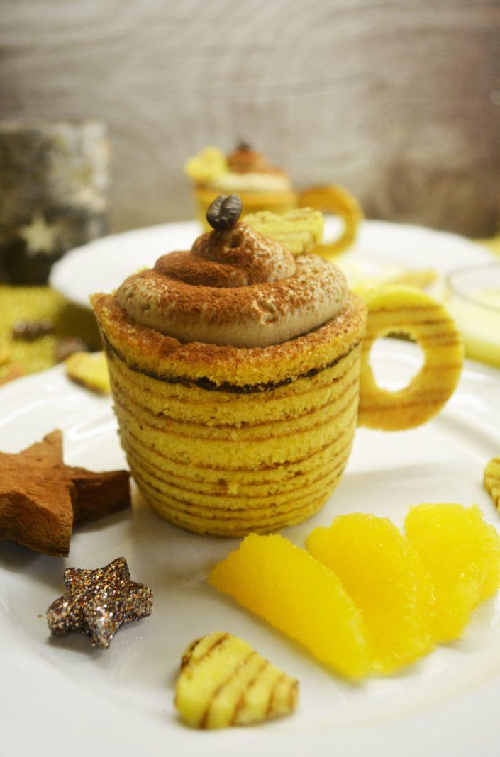 Traumschön! Baumkuchentassen mit Mokkacreme und Orangensabayon