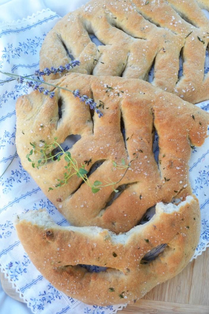 Ein Brotzeit-Blatt zum Genießen! Fougasse