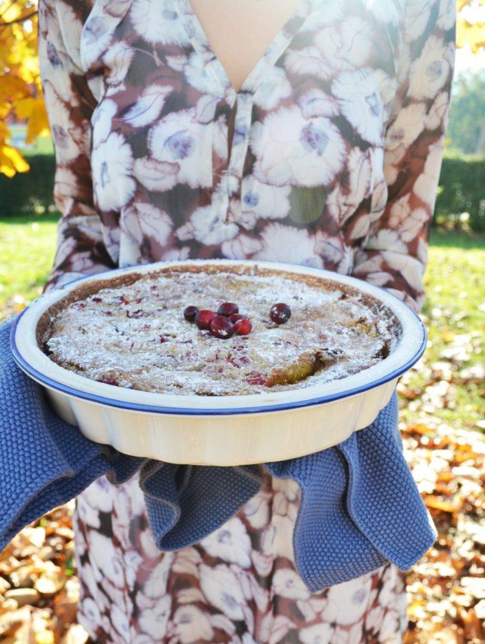 Süße Ofenliebe! Flognarde mit Birnen und Cranberries