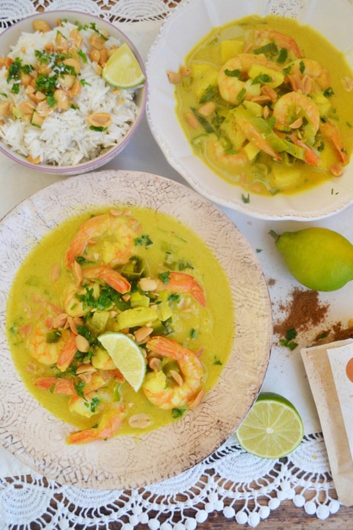Fernweh-Ahoi! Garnelen-Curry mit Kokosmilch und Limette