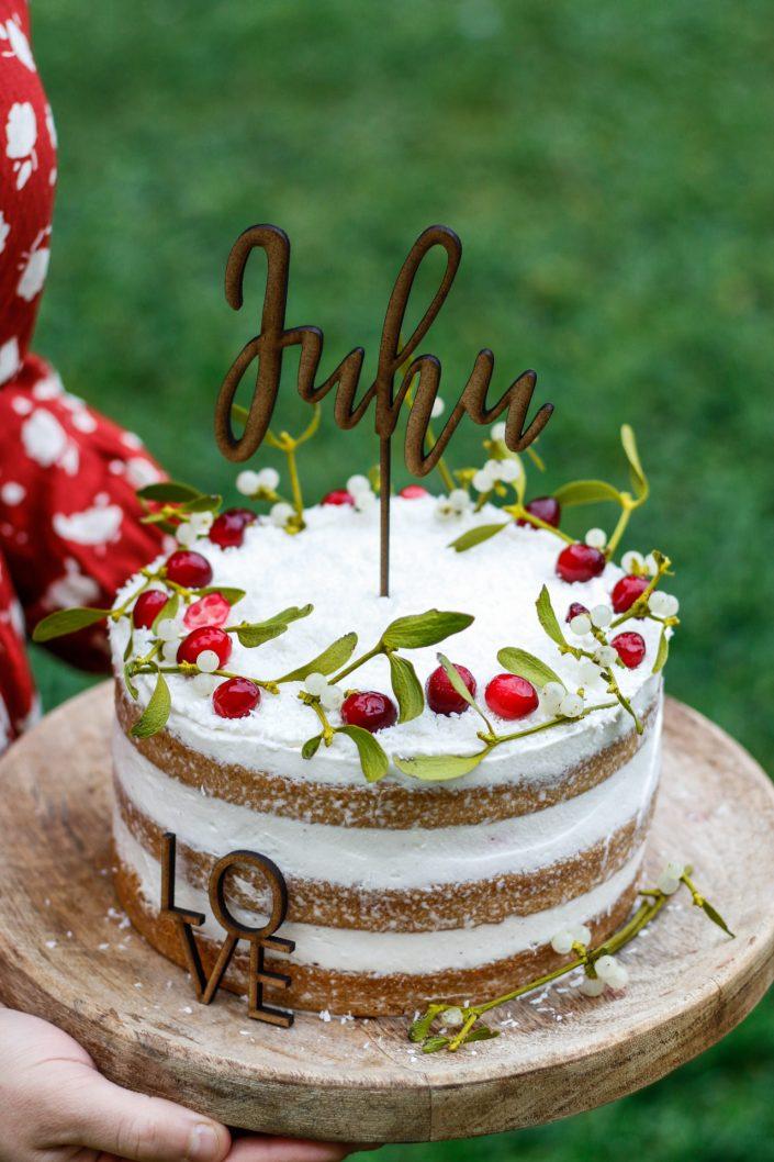 CELEBRATE GOOD TIMES, COME ON! Mit diesem KOKOS NAKED CAKE MIT CRANBERRYKOMPOTT sage ich ganz laut DANKE!