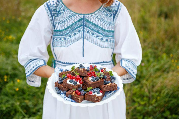 SUMMER DREAMING MIT SANTA LUPITA! Schwarze Bohnen Brownies & Fladenbrot mit Kürbisfüllung und gebratenen Pimientos