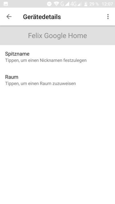 Google Home spitzname