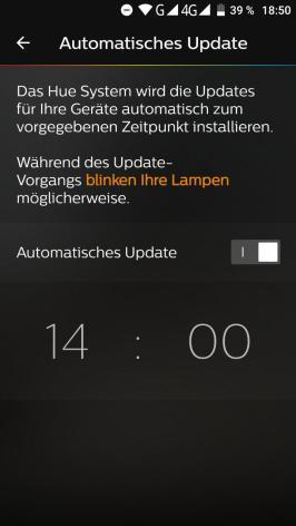 Philips Hue Auto-Update 11.10.2017