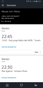 Amazon Music und TuneIn Alexa Musikwecker
