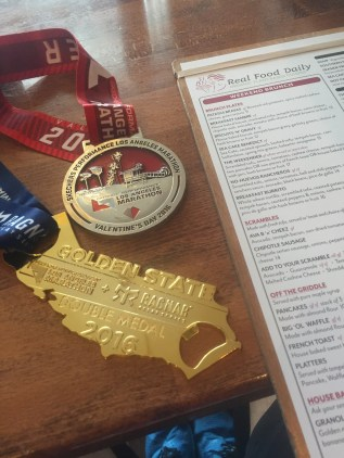 On the plus side, I did earn the Golden State Double Medal for running Ragnar SoCal