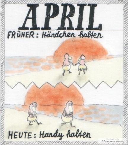 Händchen halten vs. Handy halten April Heini und Heidi 2019 Meinung ohne Ahnung