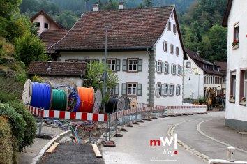 Breitbandkabel werden mit verlegt