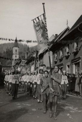 Der erste Oberrheinische Narrentag fand 1950 in Zell statt - Archiv Uli Merkle