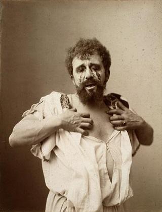 שחקן מציג את אדיפוס המלך, 1896