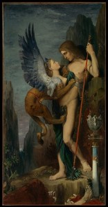 Oedipus and the Sphinx 1864 Gustave Moreau