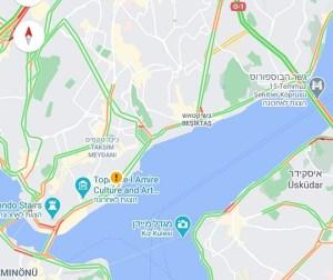 איסטנבול (כיכר טקסים, גשר הבוספורוס, קרקוי, גלטה). איזור עלילת הרומן