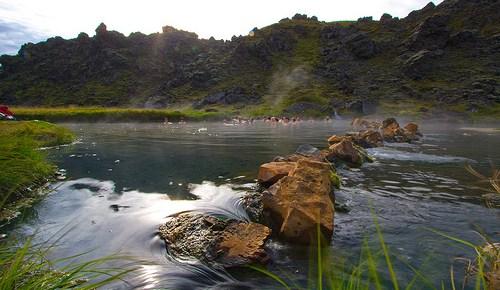 Die größte Badewanne Islands – Landmannalaugar