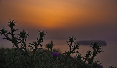 Sonnenuntergang vom Krater-Rand