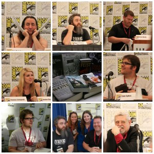 Writers collage comic con 2014