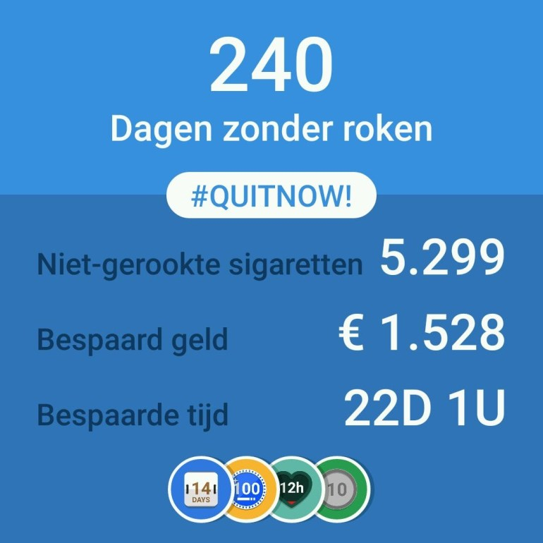 Meisjes van vijftig is gestopt met roken. Echt waar!