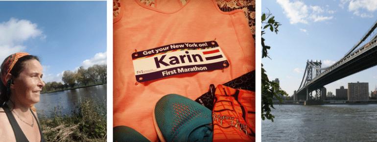 Meisjes van vijftig rennen de marathon