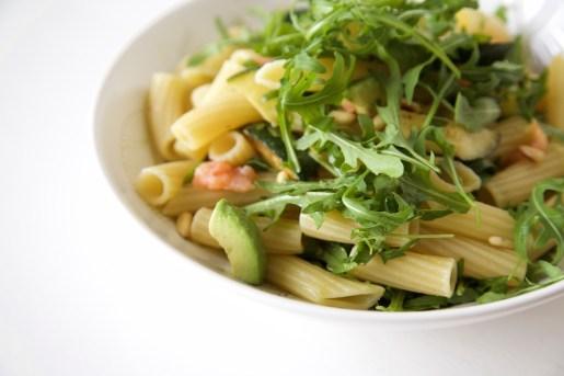 zalm pasta salade