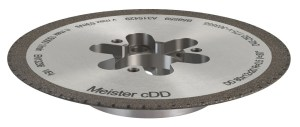 Better Wheel Performance: Switching to Meister's cDD diamond dresser increased the interval between dresses by about 100%, essentially doubling wheel life
