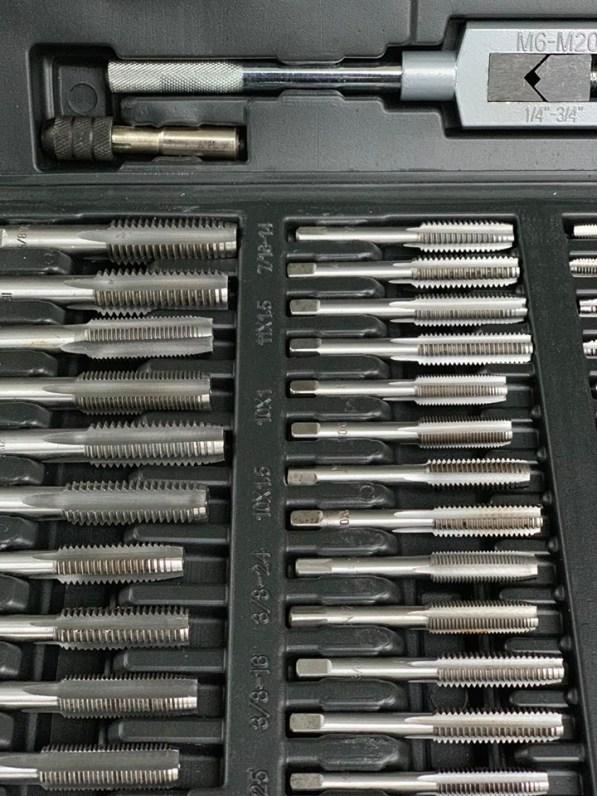 Gewindeschneider Set 110-tlg Gewindebohrer Gewindeschneidsatz werkzeuge 3
