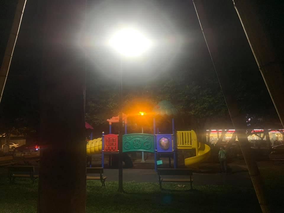 謝美英議員監督文化公園照明問題6