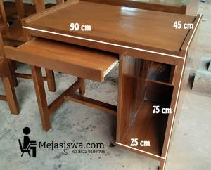 meja lab komputer kayu