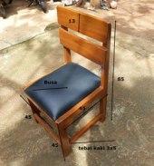 ukuran kursi guru kayu
