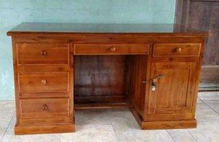 meja kantor kayu jati