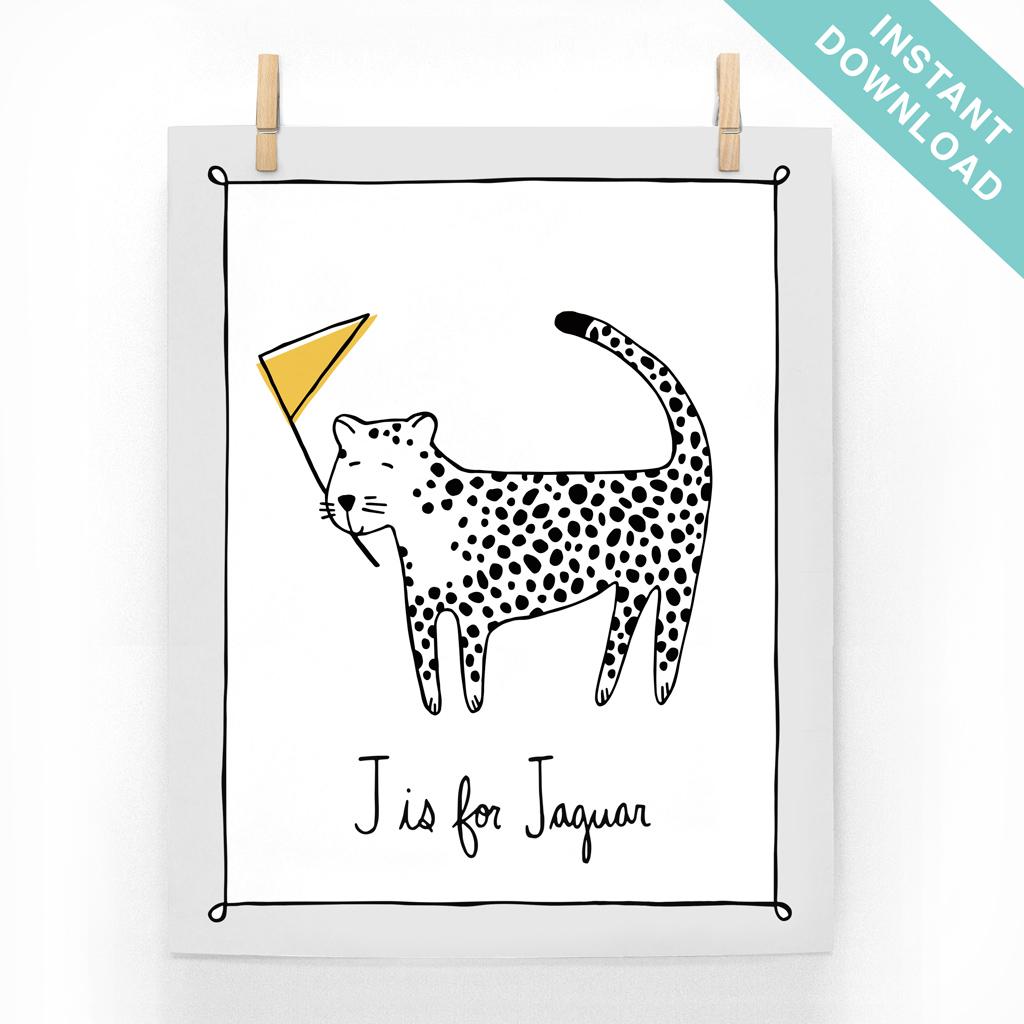 J Is For Jaguar Instant Download