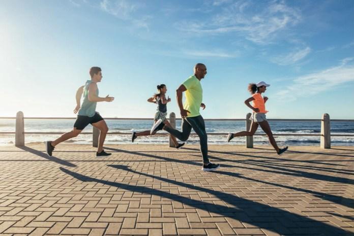 Jogging en la costanera.