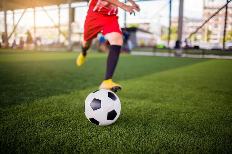 Botines para fútbol.