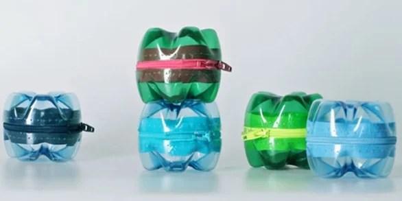 Reutilizar botellas de plástico: monederos