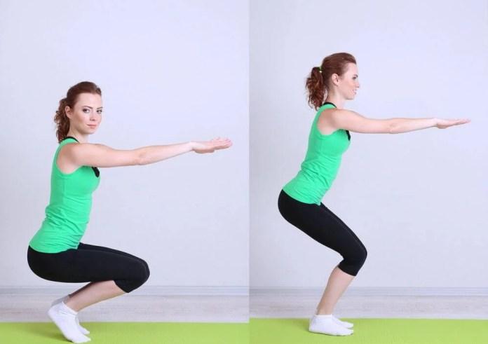 Cuclillas como ejercicio para cuidar los huesos