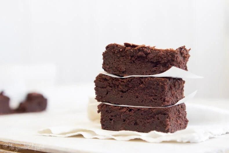 Brownies de chocolate con remolacha.
