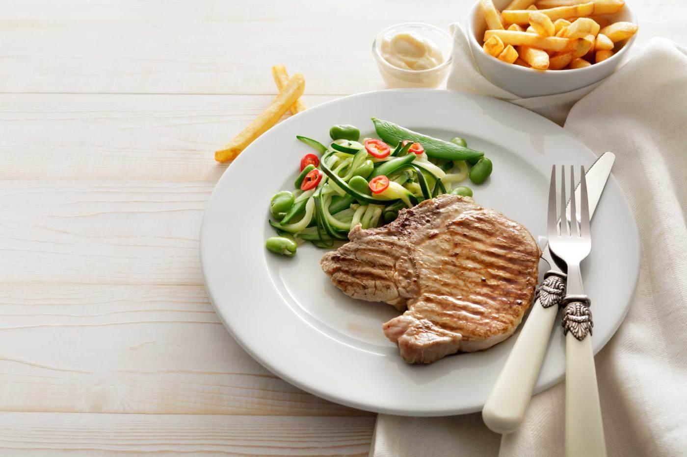 plato de comida para nuestras cenas