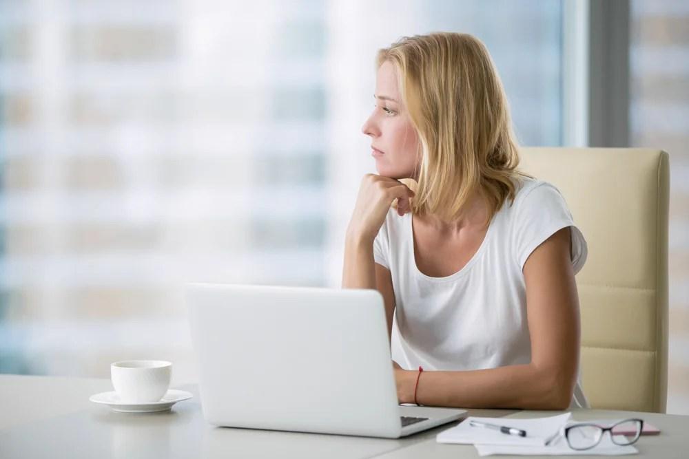 Mujer poco productiva
